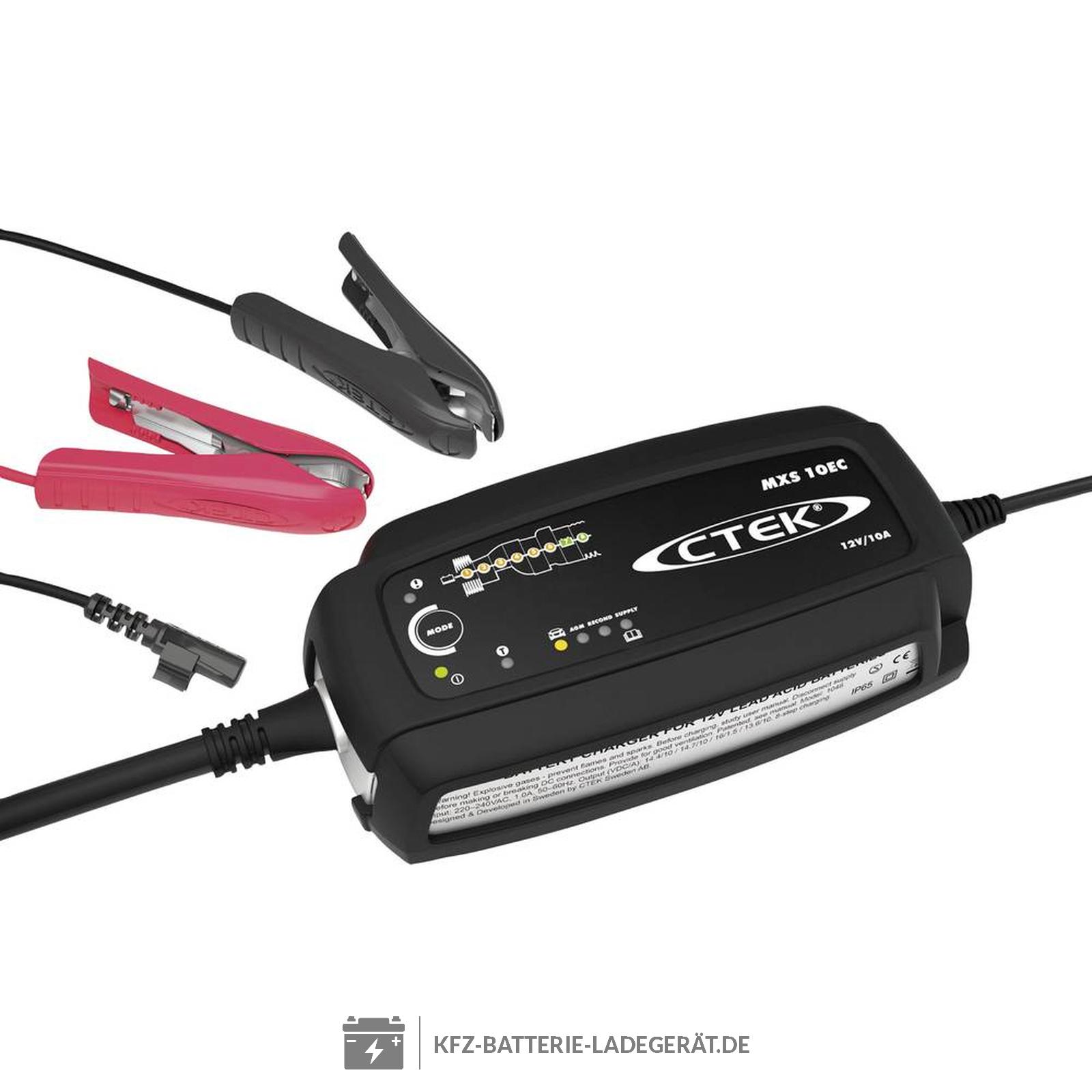 ctek mxs10 ladeger t f r 12 volt batterien ctek batterie. Black Bedroom Furniture Sets. Home Design Ideas