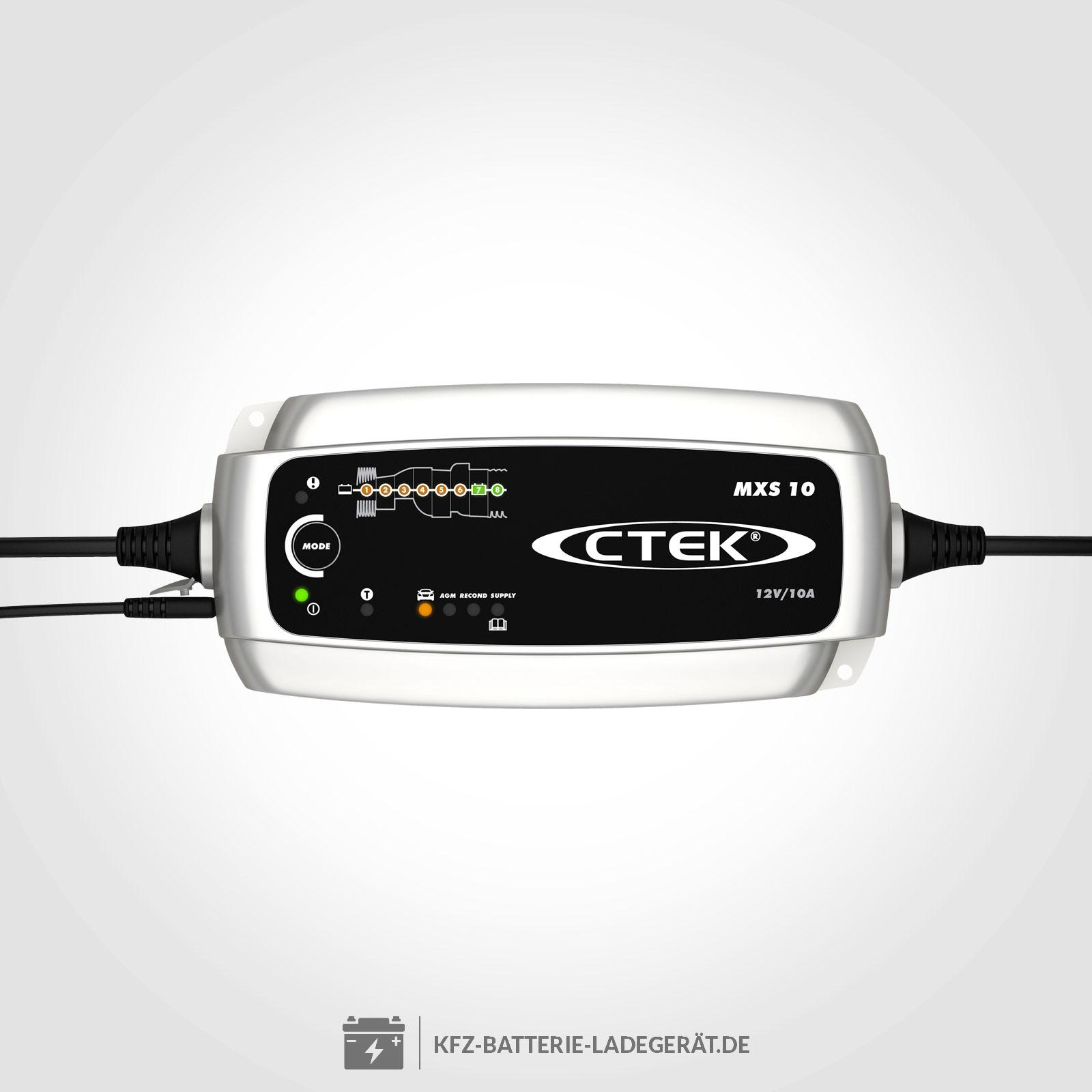 Ctek Mxs10 Ladegerät Für 12 Volt Batterien Ctek Batterie Ladegeräte