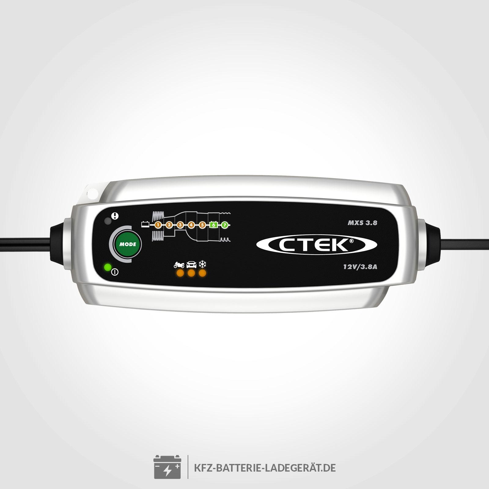 Ctek Mxs 38 Ladegerät Für 12v Batterien Ctek Batterie Ladegeräte