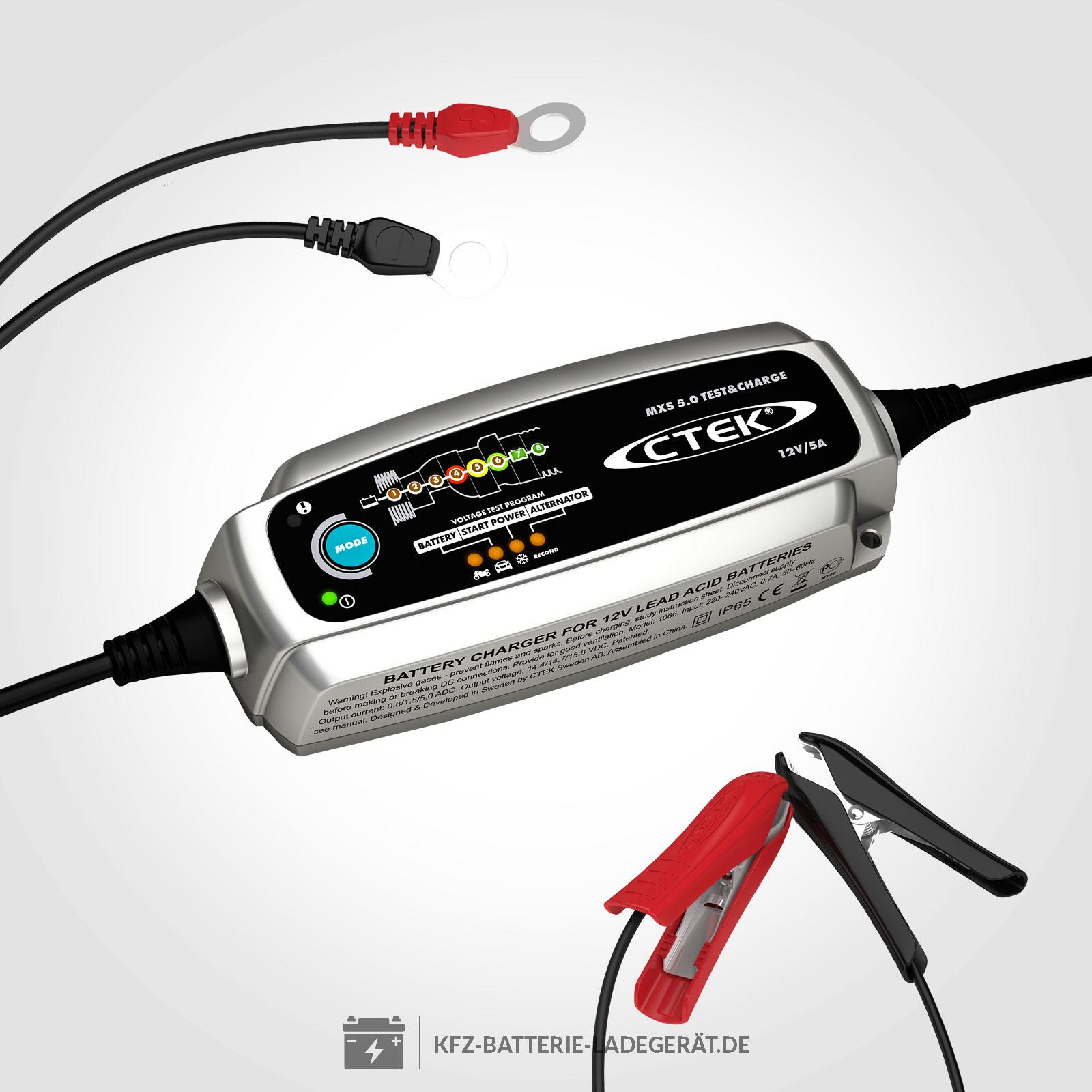 ctek mxs 5 0 test charge ladeger t f r 12v batterien ctek batterie ladeger te. Black Bedroom Furniture Sets. Home Design Ideas